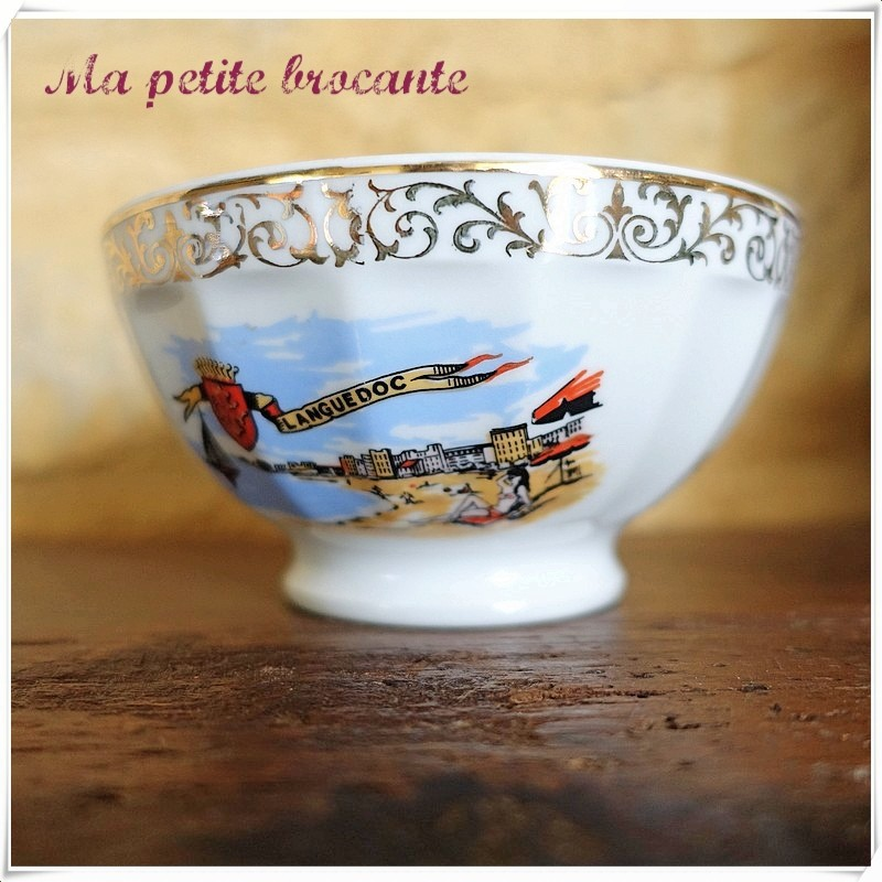 Ancien bol en porcelaine de Limoges Sofafils prénom Franck
