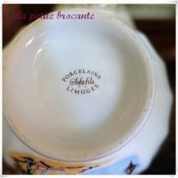 Ancien bol en porcelaine de Limoges Sofafils prénom Françoise
