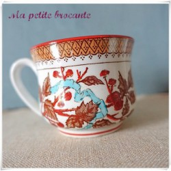 Belle tasse de Sarreguemines style Minton