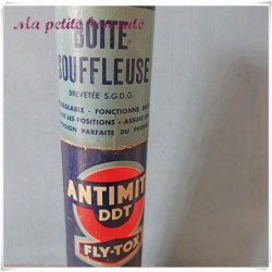 Ancienne boîte souffleuse antimite DDT Fly-tox