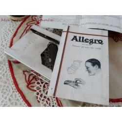REPASSEUR ALLEGRO ANCIEN AIGUISEUR DE LAMES DE RASOIRS ET SA PUBLICITE