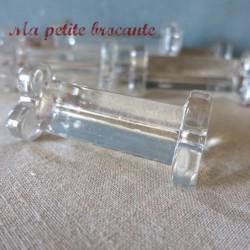 Six porte couteaux en cristal ancien