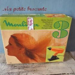 Ancien sèche cheveux Moulinex n°3 dans sa boite d'origine