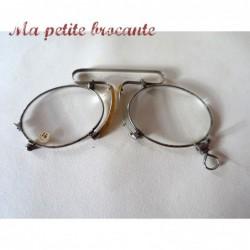 Anciennes binocles besicles lunettes pince nez verre correction 14