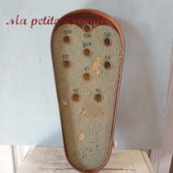 Ancien jeu d'adresse en tôle culbuto 1900