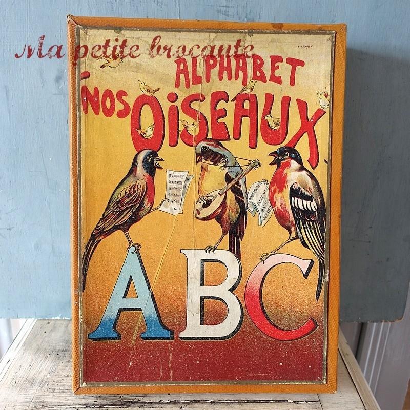 Jeu ancien de patience puzzle alphabet nos oiseaux