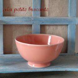 Bol rose ancien en céramique Italie marque Cipa