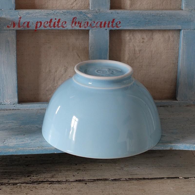 Bol bleu ancien en porcelaine made in Italie marque Cipa