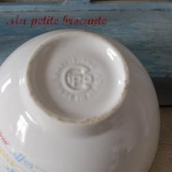 Bol blanc ancien en porcelaine made in Italie marque Cipa