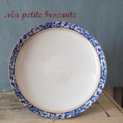Coupe sur pied ou compotier en porcelaine de Pillivuyt & Cie