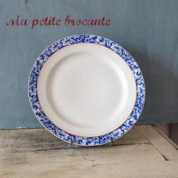 Assiette plate diamètre 25 cm en porcelaine Ch. Pillivuyt & Cie