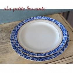 Assiette plate diamètre 22.5 cm en porcelaine Ch. Pillivuyt & Cie