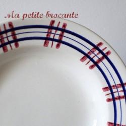 Assiette creuse de Digoin & Sarreguemines du modèle Poitou