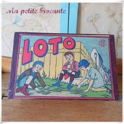 Boîte de loto ancienne complète MJL