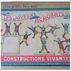 Les joyeux acrobates constructions vivantes Théophile Lamagnère à Paris