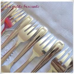 Lot de douze fourchettes à poisson art déco orfèvre  Saglier Frères