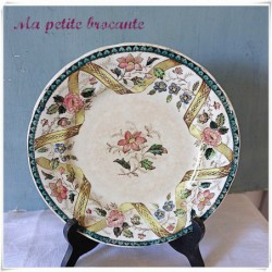 Assiette Saint Amand & Hamage  modèle Rinceau
