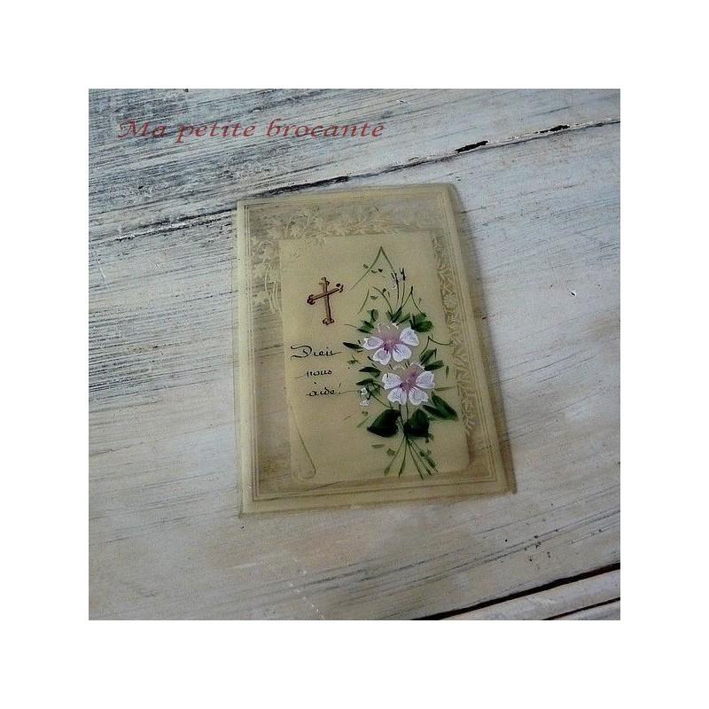 Première édition ~ DECO plumier DECOUPIS papiers ~ 3 feuilles ~ Peach roses