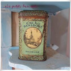 Boîte publicitaire cacao Hollandais Bensdorp Amsterdam