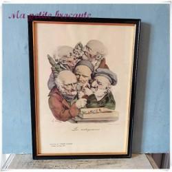 Léopold BOILLY caricature les antiquaires