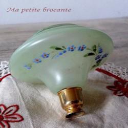 Ancien réservoir de vaporisateur de parfum en verre émaillé de fleurs