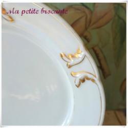 Assiette plate maison de l'escalier de Cristal Palais royal