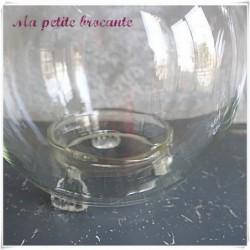 Lot de gobe mouche en verre soufflé monté en lampes