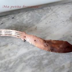 Accroche-torchons ou porte-clefs travail de poilu artisanat tranchées