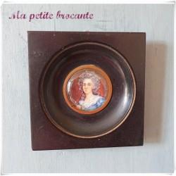 Miniature sur ivoire d'après Vigée Lebrun
