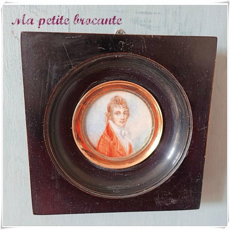 Miniature XIXème peinte du lord Fulton