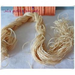 Echevette ancienne de fil de lin couleur lin