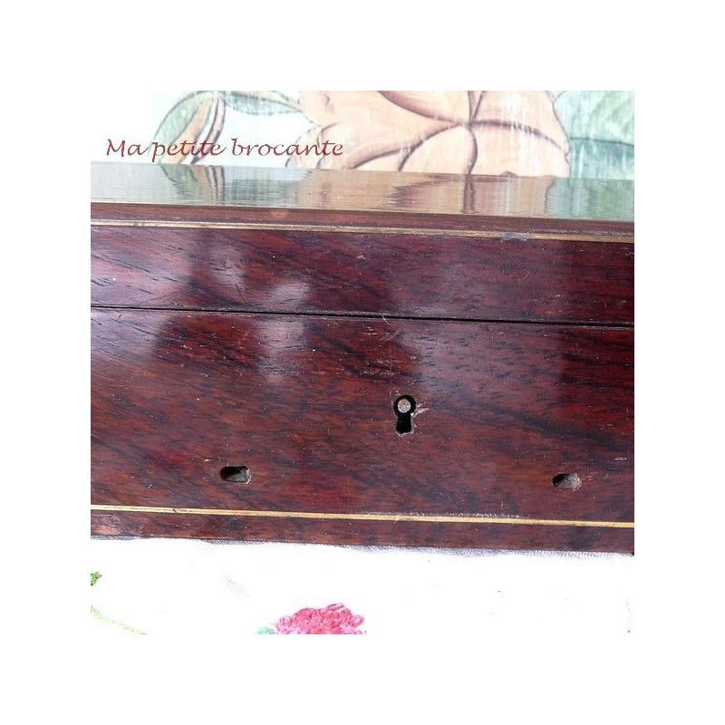Wooden tea box 2 compartiments decoupis sachet de thé boîte de conservation