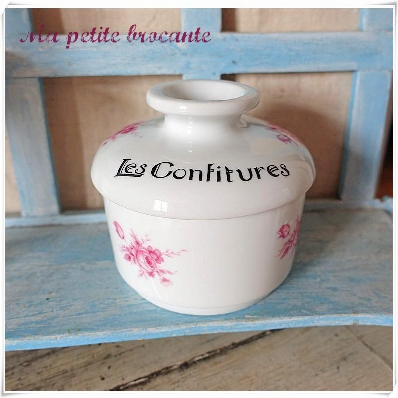 Confiturier en porcelaine de Limoges Deshoulières Lourioux