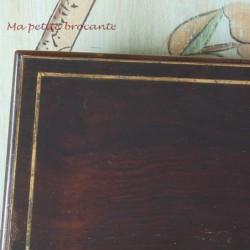 Coffret boîte acajou et laiton  Napoléon III XIXème