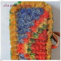Brosse ancienne parquet  en soie pure