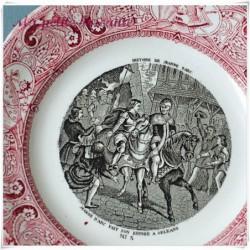 Assiette parlante Gien n°5 Histoire de Jeanne d'arc