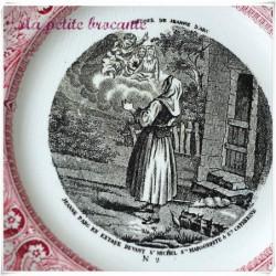 Assiette parlante Gien n° 2 Histoire de Jeanne d'arc