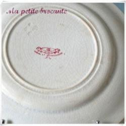 Assiette parlante  n° 12 série les enfants terribles en Creil & Montereau