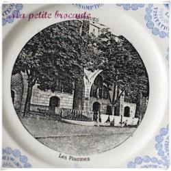 Assiette parlante série Lourdes les piscines Digoin & Sarreguemines