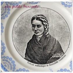 Assiette parlante série Lourdes Bernadette Soubirous Digoin & Sarreguemines