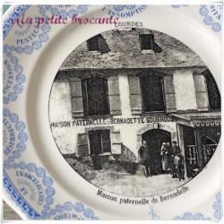 Assiette parlante la maison paternelle de Bernadette de Lourdes