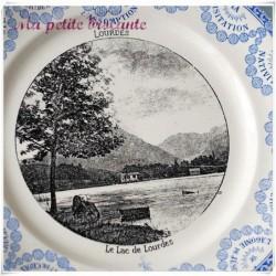 Assiette parlante le lac de Lourdes