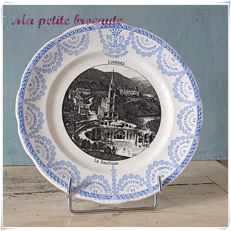 Assiette parlante la basilique de  Lourdes