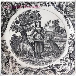 Assiette parlante série honneur gloire patrie Jeanne d'arc à Domrémy