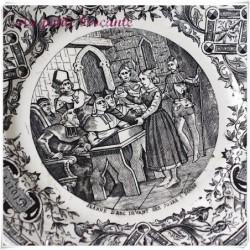 Assiette parlante série honneur gloire patrie Jeanne d'arc devant ses juges à Rouen