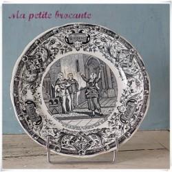Assiette parlante série honneur gloire patrie Jeanne d'arc va trouver le seigneur
