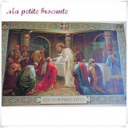 Belle lithographie souvenir de communion vierge Letaille n° 466
