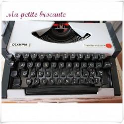 Machine à écrire portative Olympia Traveller de Luxe S design pop art