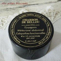 Charbon de Belloc boite en plastique noir