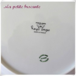 Assiette plate en porcelaine blanche Royal Limoges